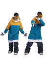 Long hoodie for snowboarding or skiing