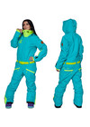 Women's all in one ski suit TWIN ONE COLOR 3712/27