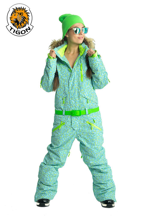 Women's all in one ski suit TOPAZ