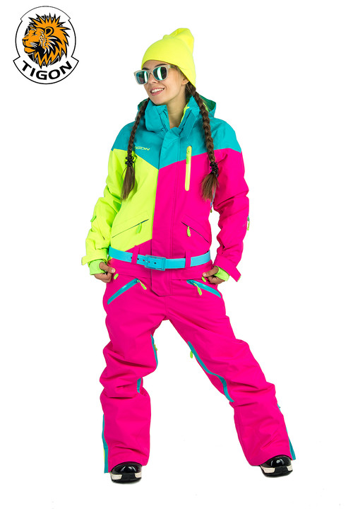 Women's all in one ski suit MULTI-207